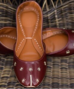 Maroon Star Leather